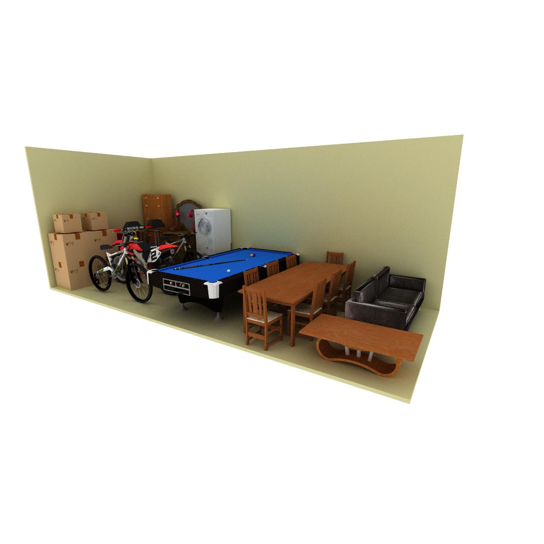 10 x 25 storage unit possible configuration