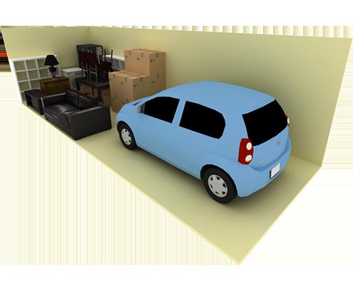 10 x 35 storage unit possible configuration
