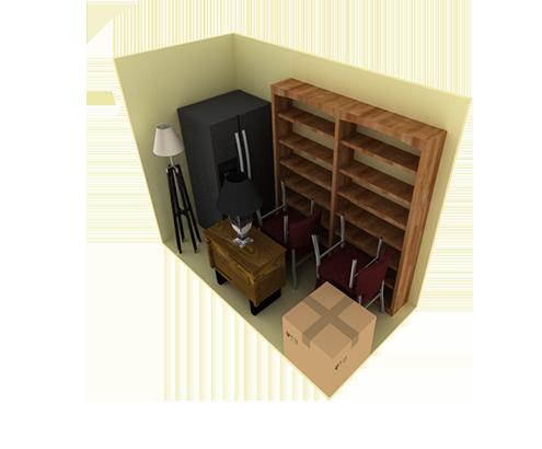 10 x 5 storage unit possible configuration