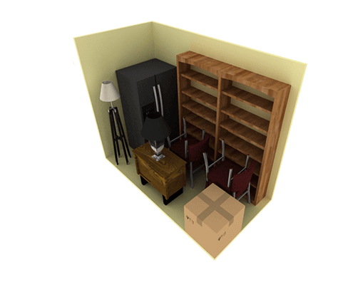 5 x 10 storage unit possible configuration