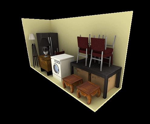 5 x 15 storage unit possible configuration