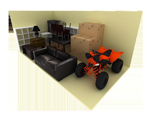 8 x 20 storage unit possible configuration